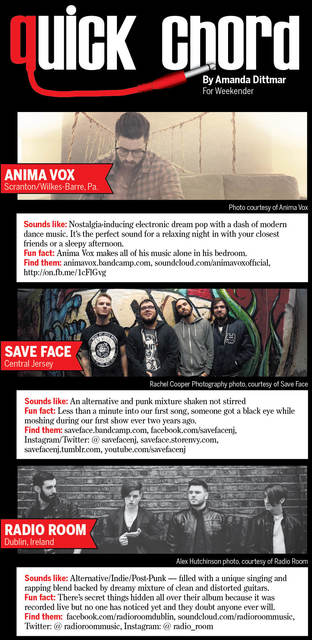 QUICK CHORD: Anima Vox, Save Face, and Radio Room