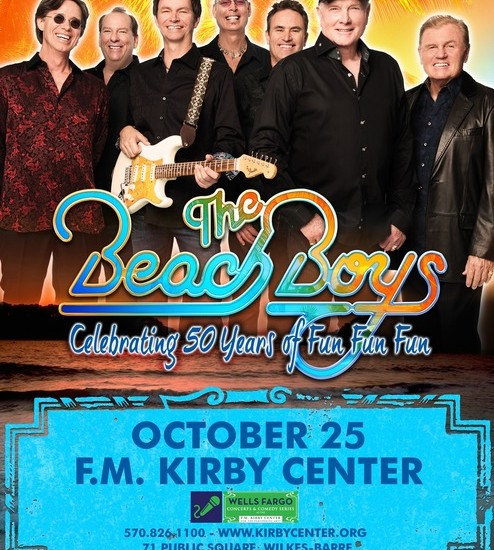 Beach Boys to celebrate making music for 50 years at Kirby Center