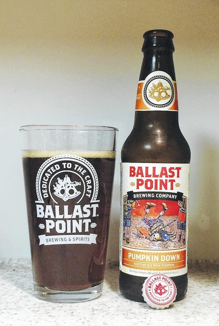 I'D TAP THAT: Ballast Point Brewing Company's Pumpkin Down is a perfect blend of East and West Coast styles