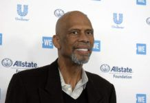 FILE - Kareem Abdul-Jabbar arrives at WE Day California at The Forum on Thursday, April 25, 2019, in Inglewood, Calif. Kareem Abdul-Jabbar appreciates what today's NBA players are doing in their attempts to make the world better, how they're using their voices and platforms as conduits for change. The NBA announced Thursday, May 13, 2021 the creation of a new award — the Kareem Abdul-Jabbar Social Justice Champion Award — to recognize players who are making strides in the fight for social justice.(Photo by Richard Shotwell/Invision/AP, File)