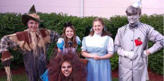 Pictured is the cast of 'Dorothy in Wonderland.' First row, from left:Grace Lopez, of Wilkes- Barre; Charlotte Carlsson, of Trucksville. Second Row: Bruce Graham, of Trucksville; Chloe Fitch, of Shavertown; Lydia Federici, of Dallas; and Dennis Lee of Larksville.                                  Submitted photo