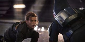 This image released by Marvel Studios shows Scarlett Johansson in a scene from 'Black Widow.'