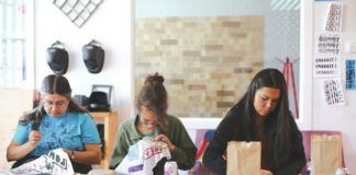 Pictured are participants in The Social Justice Sewing Academy.                                  Submitted photo
