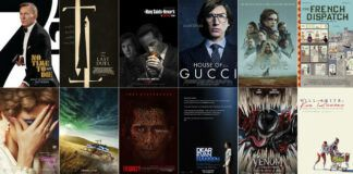 """This combination of images shows promotional art for upcoming films, top row from left, """"No Time to Die,"""" """"The Last Duel,"""" """"The Many Saints of Newark,"""" """"House of Gucci,"""" """"Dune"""" and """"The French Dispatch,"""" bottom row from left, """"The Eyes of Tammy Faye,"""" """"Ghostbusters: Afterlife,"""" """"The Guilty,"""" """"Dear Evan Hansen,"""" """"Venom: Let There Be Carnage,"""" and """"King Richard."""" (Top row from left, MGM/20th Century Studios/Warner Bros-HBO Max/MGM/Warner Bros. Pictures/Searchlight Pictures, bottom row from left, Searchlight Pictures/Sony Pictures/Netflix/ Universal/Sony Pictures/Warner Bros Pictures via AP)                                  AP photo"""